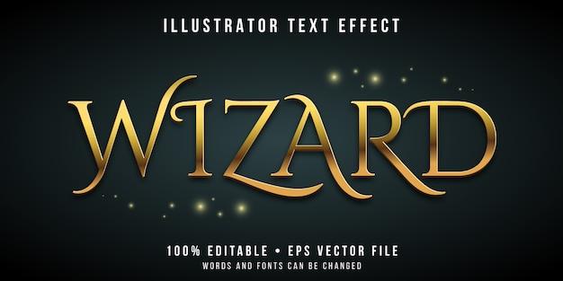 Effet de texte modifiable - style magique de l'assistant