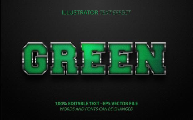 Effet de texte modifiable de style métal vert