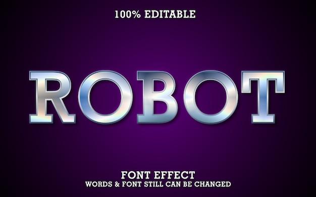 Effet de texte modifiable - style métal