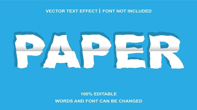 Effet de texte modifiable style papier