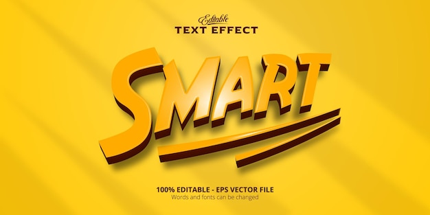 Effet de texte modifiable de style plastique, texte intelligent