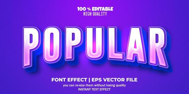 Effet de texte modifiable style populaire
