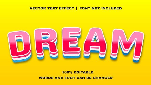 Effet de texte modifiable de style de rêve