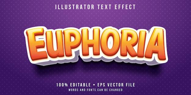 Effet de texte modifiable - style de sentiment d'euphorie