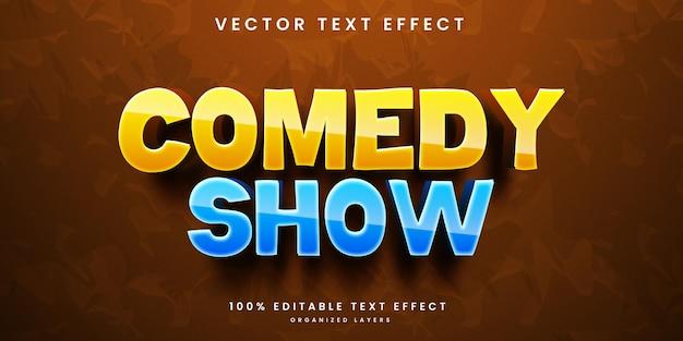 Effet de texte modifiable de style spectacle de comédie