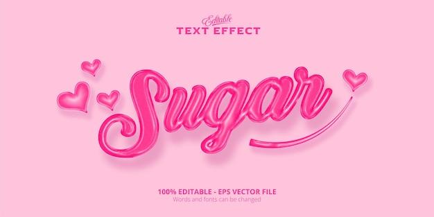 Effet de texte modifiable de style sucré de texte de sucre