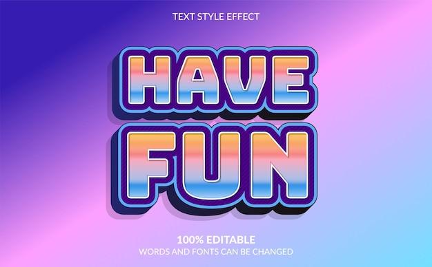 L'effet de texte modifiable a un style de texte amusant