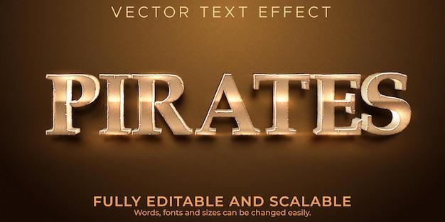Effet de texte modifiable, style de texte ancien de pirates