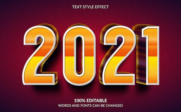 Effet de texte modifiable, style de texte de bonne année