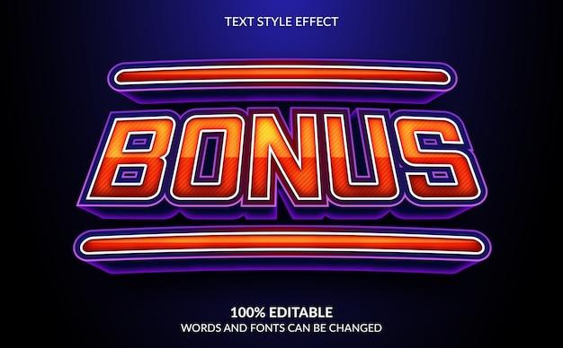 Effet de texte modifiable, style de texte bonus