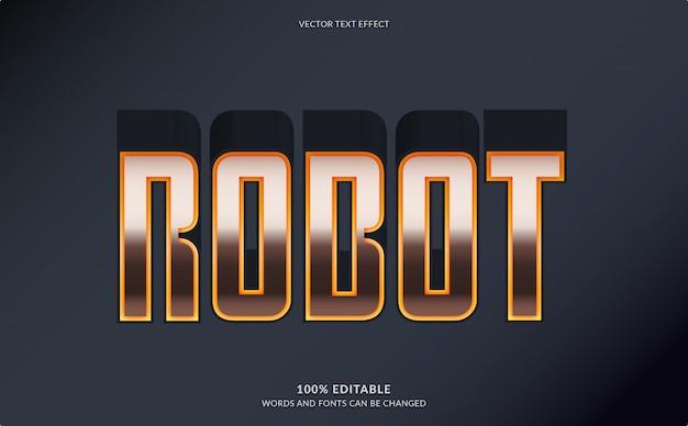 Effet de texte modifiable, style de texte du robot