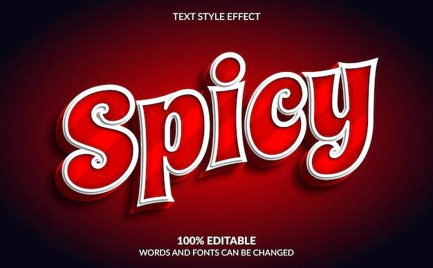Effet de texte modifiable, style de texte épicé rouge