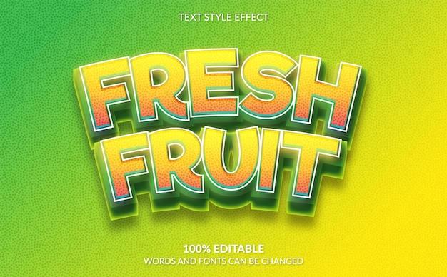 Effet de texte modifiable style de texte de fruits frais