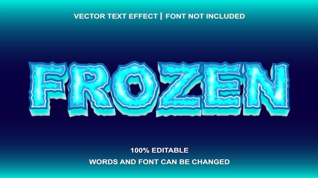 Effet de texte modifiable de style de texte gelé