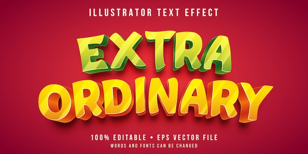 Effet de texte modifiable - style de texte gras brillant