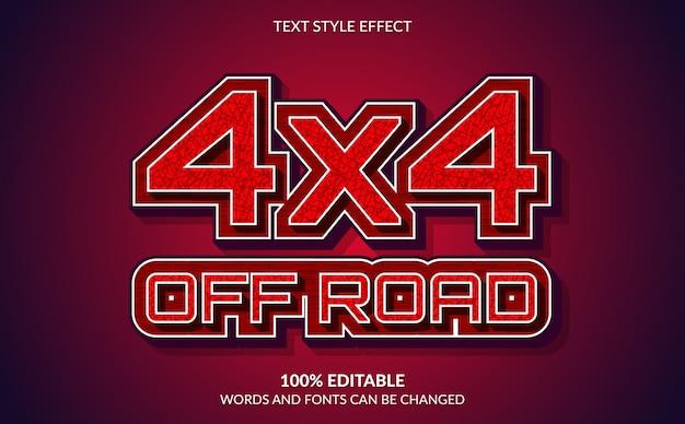 Effet de texte modifiable style de texte hors route