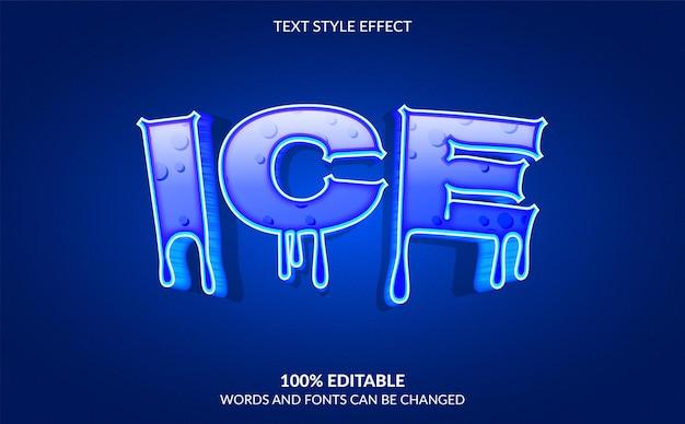 Effet de texte modifiable style de texte ice