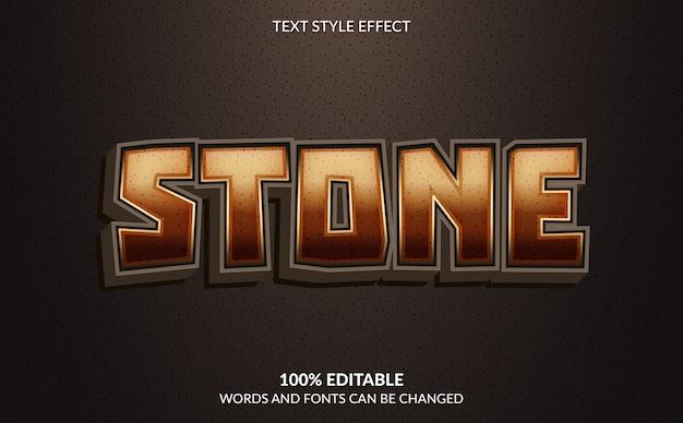Effet de texte modifiable, style de texte en pierre
