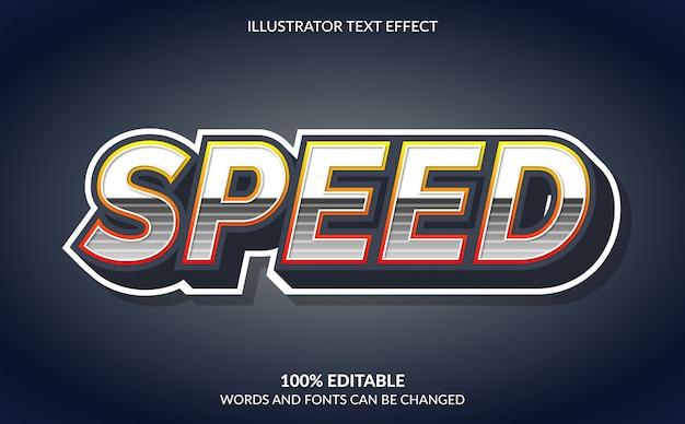 Effet de texte modifiable, style de texte rapide