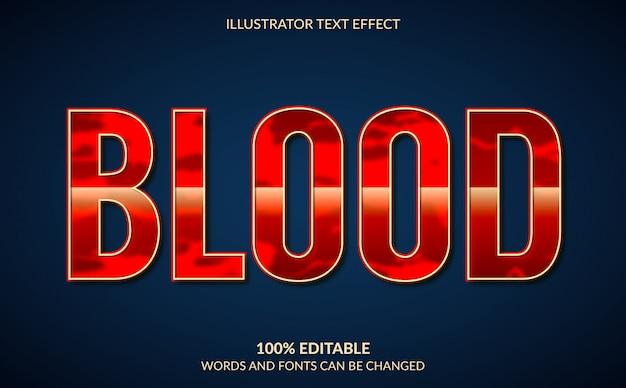 Effet de texte modifiable, style de texte red blood
