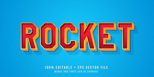 Effet de texte modifiable style de texte rocket
