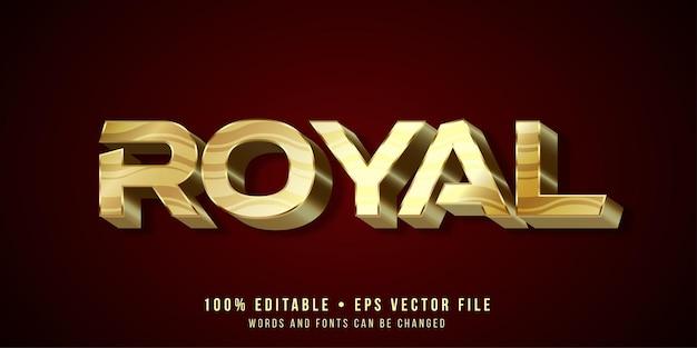 Effet de texte modifiable style de texte royal