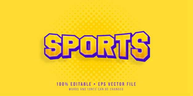 Effet de texte modifiable style de texte sportif