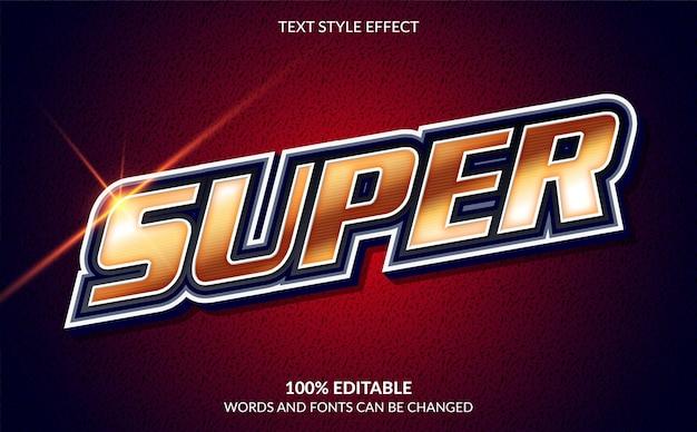 Effet de texte modifiable, style de texte super