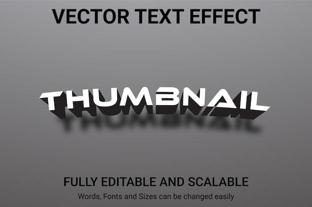 Effet de texte modifiable - style de texte thumbnail