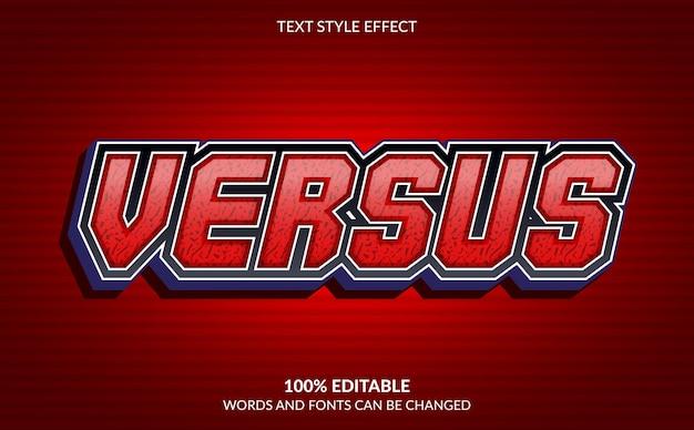 Effet de texte modifiable, style de texte versus