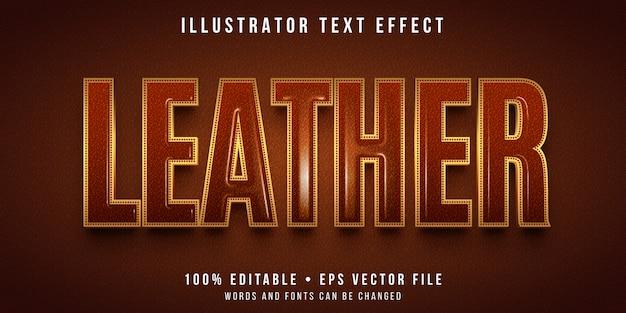 Effet de texte modifiable - style de texture en cuir