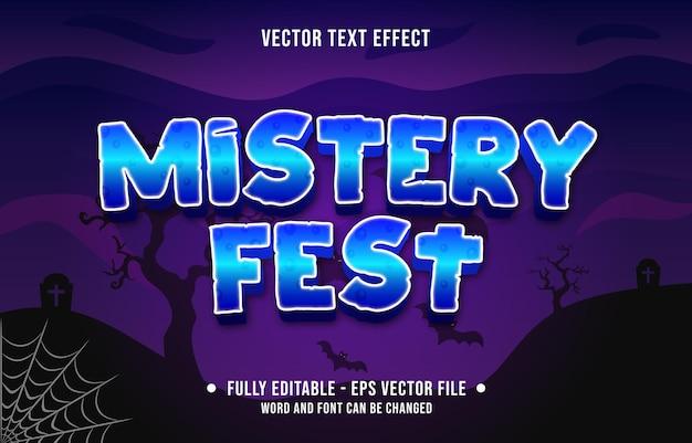 Effet de texte modifiable style de thème d'événement halloween effrayant pour modèle de média numérique et imprimé