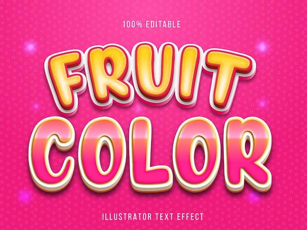 Effet de texte modifiable - style de titre de fruit mignon