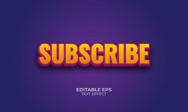 Effet de texte modifiable subscribe3d