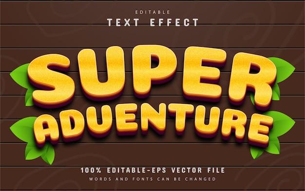 Effet de texte modifiable de super aventure