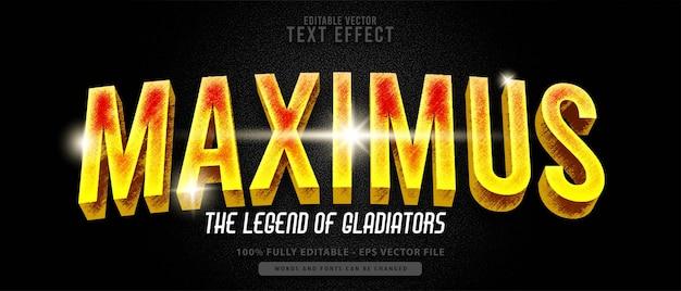 Effet de texte modifiable de super-héros moderne maximus