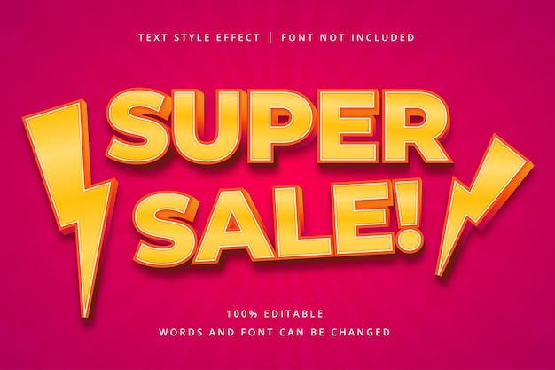 Effet de texte modifiable super sale