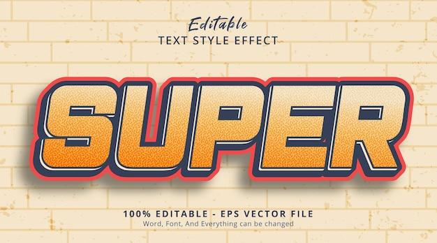 Effet de texte modifiable, super texte sur un style de combinaison de couleurs claires
