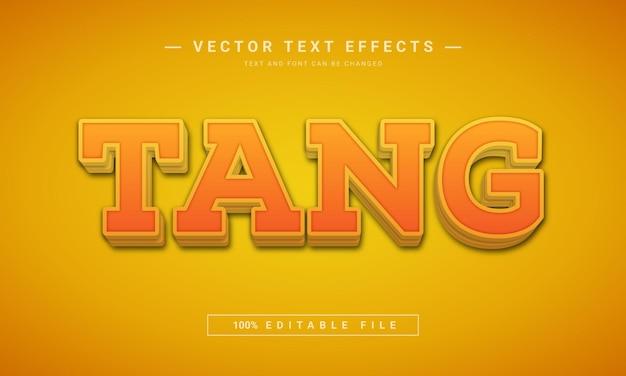 Effet de texte modifiable tang 3d