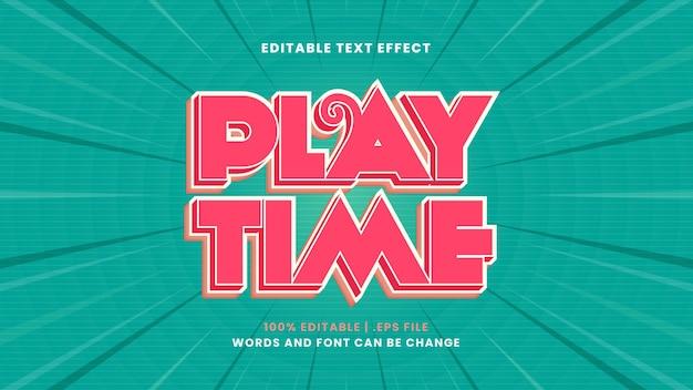 Effet de texte modifiable de temps de lecture dans un style 3d moderne