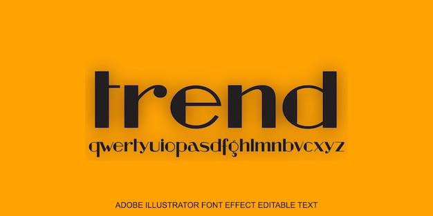 Effet de texte modifiable tendance sur jaune