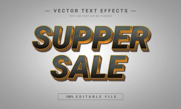 Effet de texte modifiable text3d de vente de souper