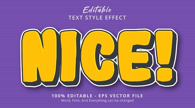 Effet de texte modifiable, texte agréable sur l'effet de style bande dessinée