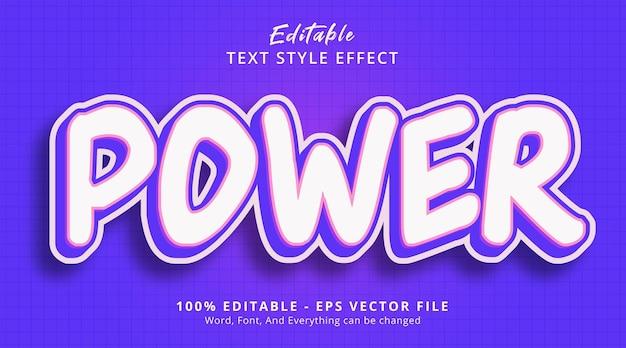 Effet de texte modifiable, texte d'alimentation sur le style d'événement d'affiche de couleur violette
