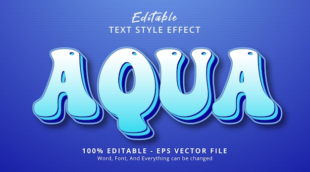 Effet de texte modifiable, texte aqua sur effet de style bleu en couches