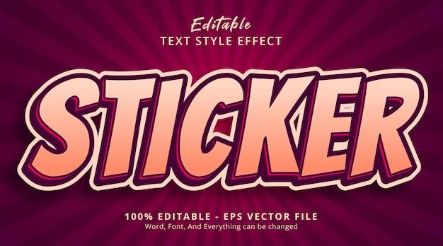 Effet de texte modifiable, texte d'autocollant sur l'effet de style d'affiche de titre
