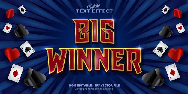 Effet de texte modifiable texte big winner