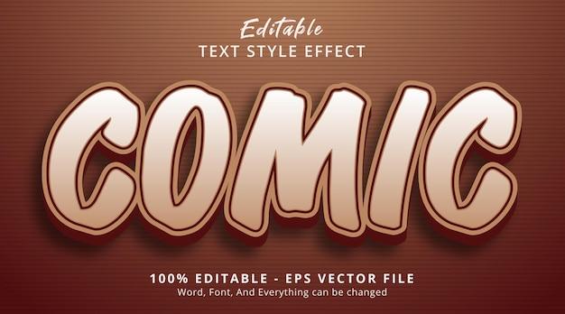 Effet de texte modifiable, texte comic sur effet de style en couches marron
