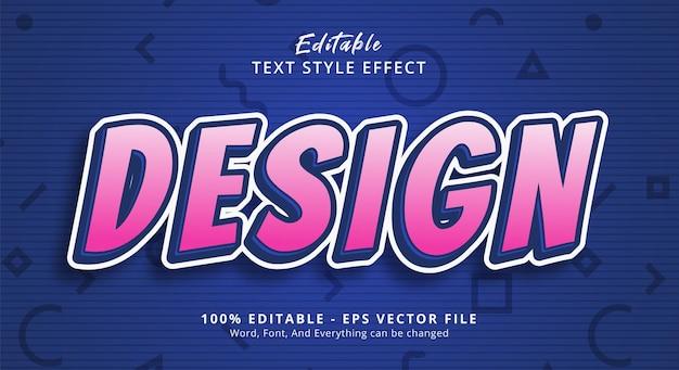Effet de texte modifiable, texte de conception sur l'effet de style de texte de bannière