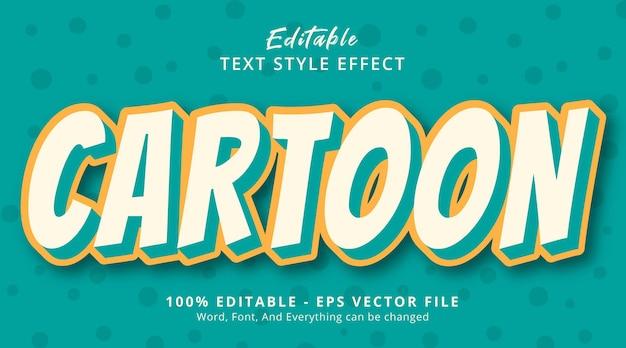 Effet de texte modifiable, texte de dessin animé sur un simple effet de style de couleur